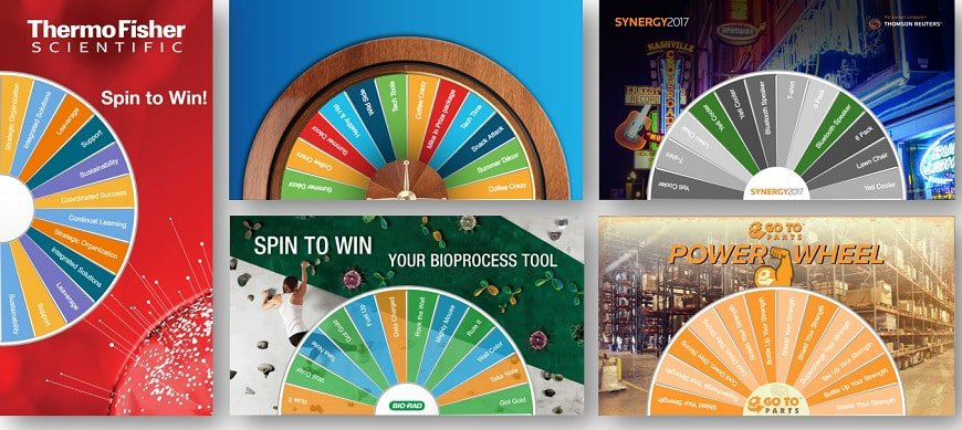 22 Virtual Prize Wheel Game Examples