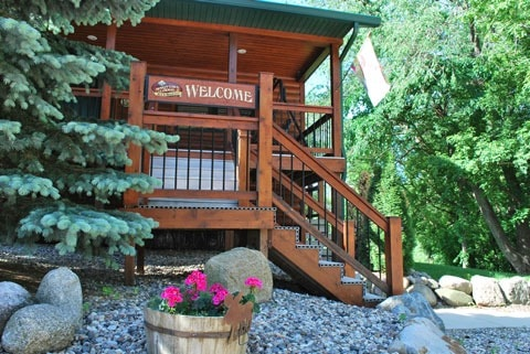 Welcome! Front view guest entrance of Spirit Cove Lodge Bed & Breakfast. Not a hotel in Alexandria Minnesota