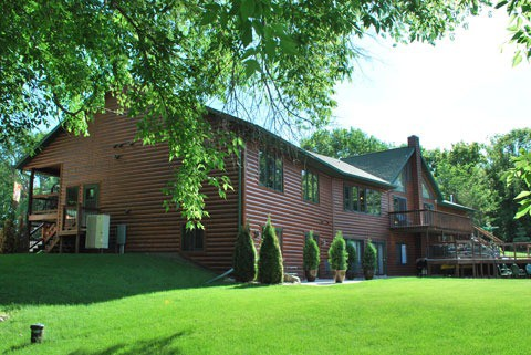 Welcome! Rear view of Spirit Cove Lodge Bed and Breakfast. Not a hotel in Alexandria Minnesota