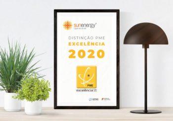 SunEnergy distinguida com estatuto PME Excelência 2020