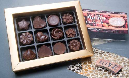 KuKu Chocolates, a collection of hand-made treats flavored with essential oils to sparkle the taste buds
