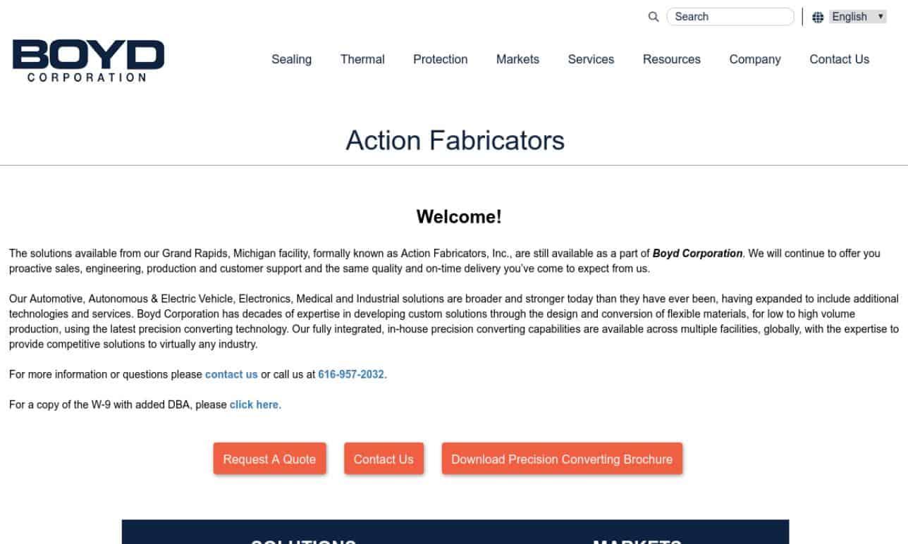 Action Fabricators, Inc.