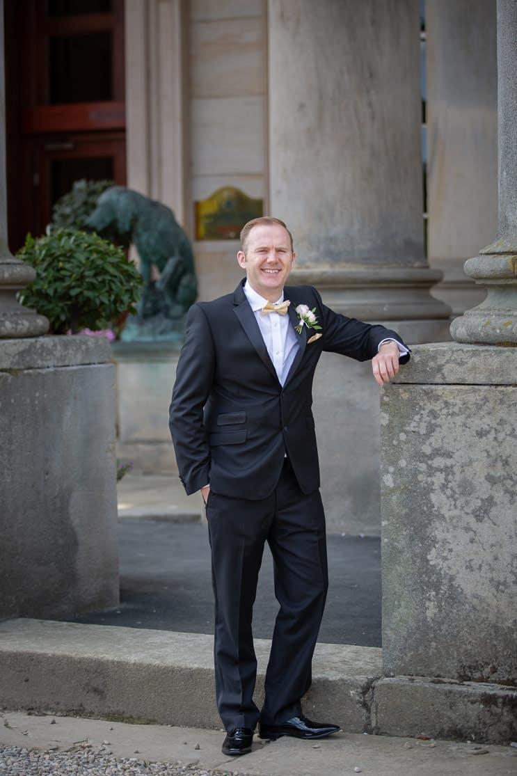 Photo of the groom at Wynyard Hall