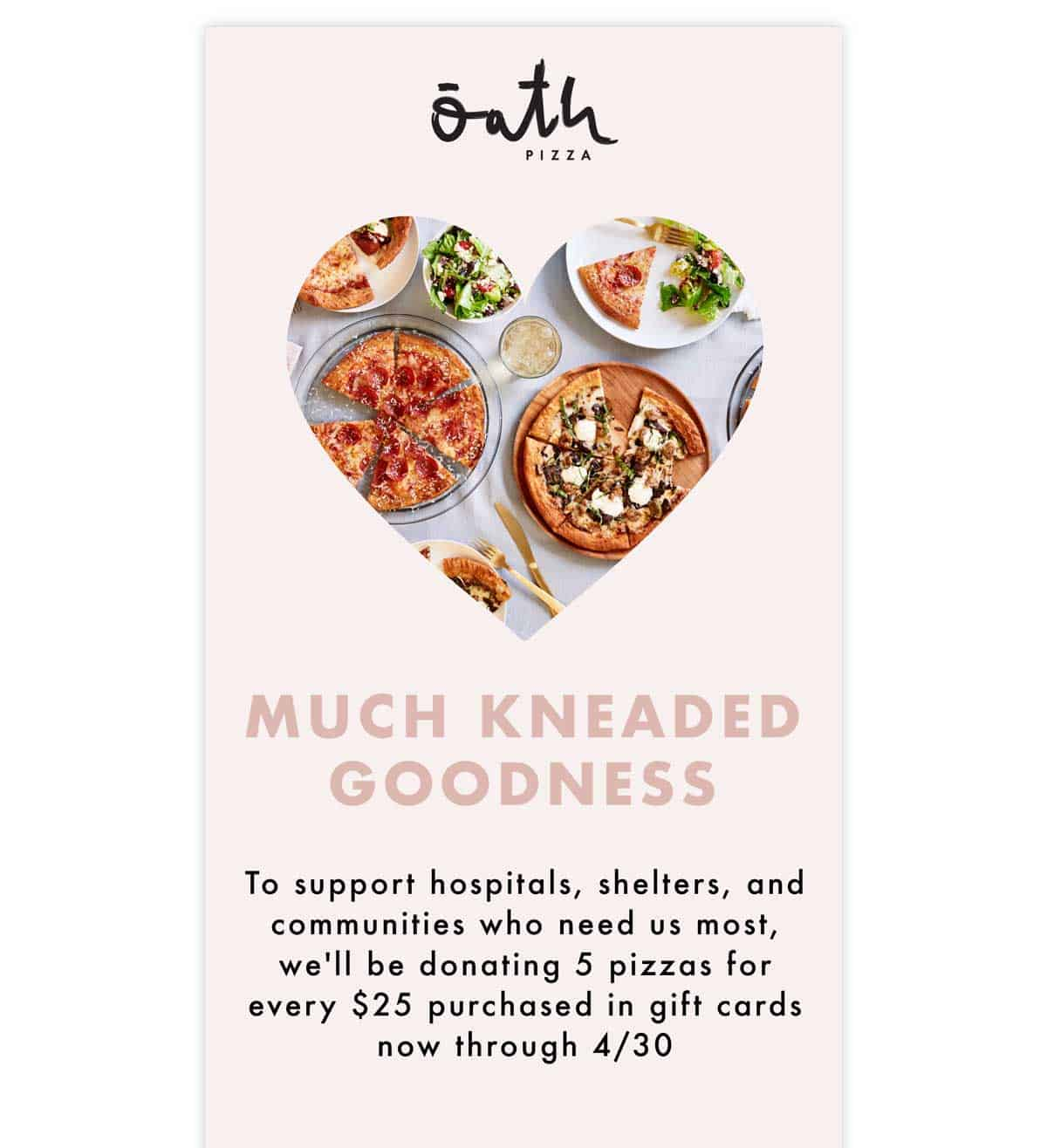 Oath Pizza support email
