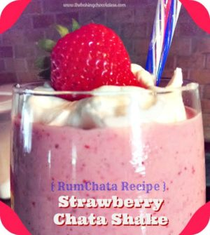 Strawberry RumChata Shake