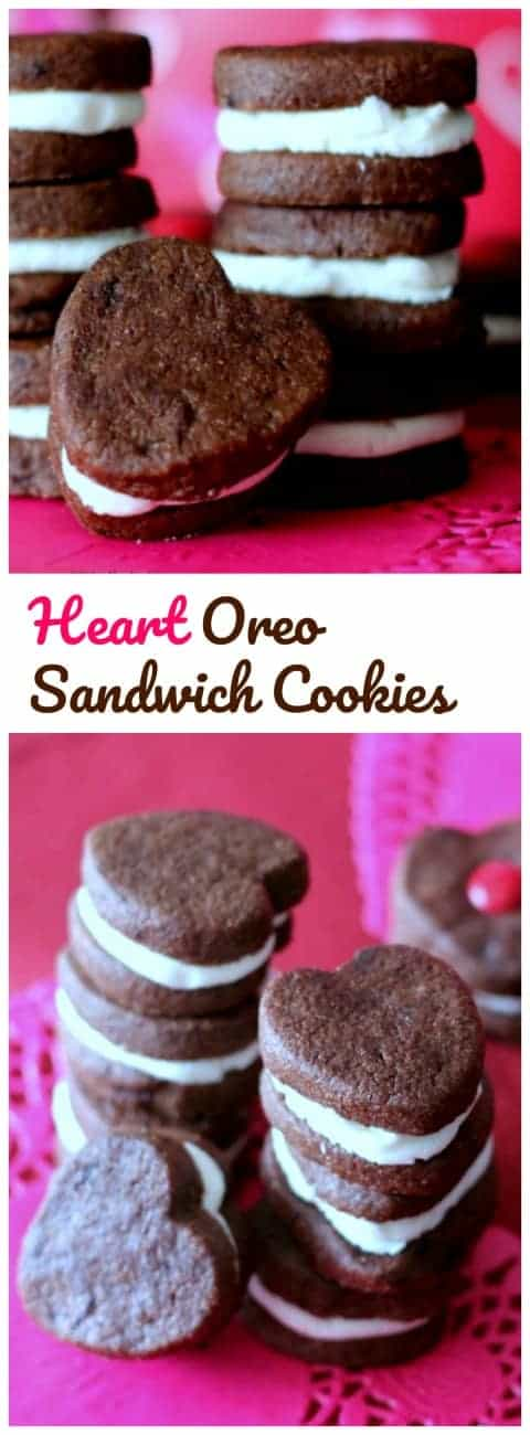 Home-made Oreo Heart Sandwich Cookies!  {Cuteness Overload}