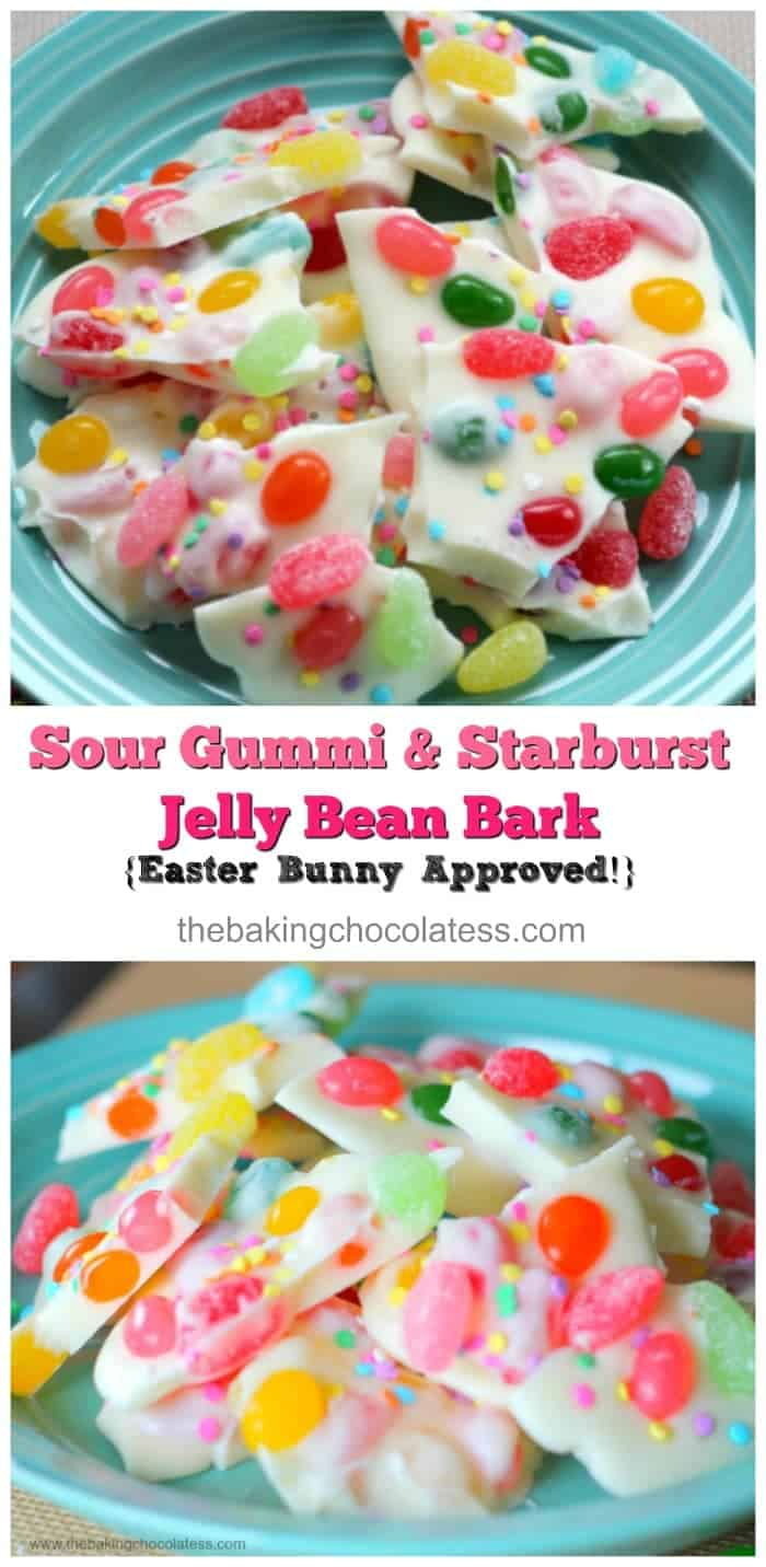 Sour Gummi & Starburst Jelly Bean Bark {Easter Bunny Approved!}