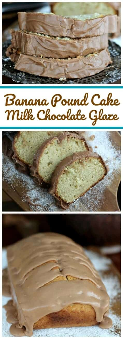 Banana Pound Cake & Milk Chocolate Glaze