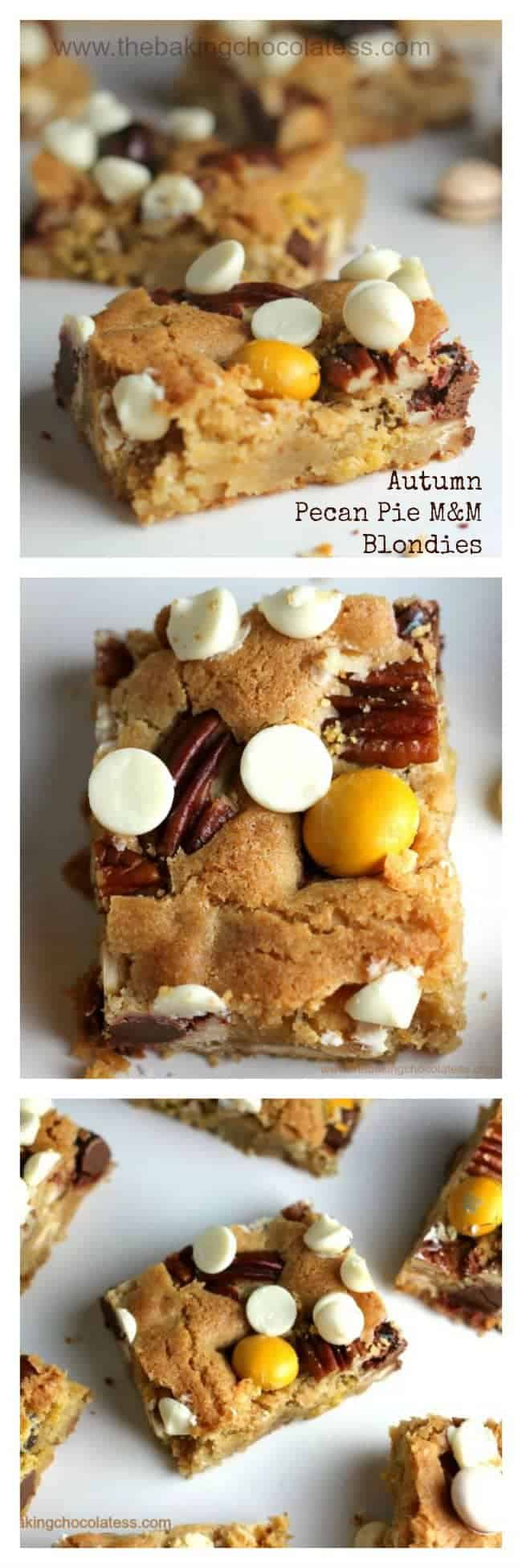 Autumn Pecan Pie M&M Blondies