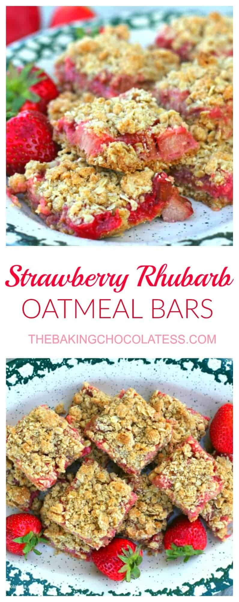 Awesome Strawberry Rhubarb Oatmeal Bars -  These scrumptious Awesome Strawberry Rhubarb Oatmeal Bars won a Pennsylvania State Fair Butter Cookie Contest and it\'s no wonder with the mouth-watering sweet and tart flavors of strawberry and rhubarb pie flavor baked in a yummy oatmeal crust. Promising you won\'t stop at one. #strawberry #rhubarb #strawberryrhubarb #oatmeal bars #dessert