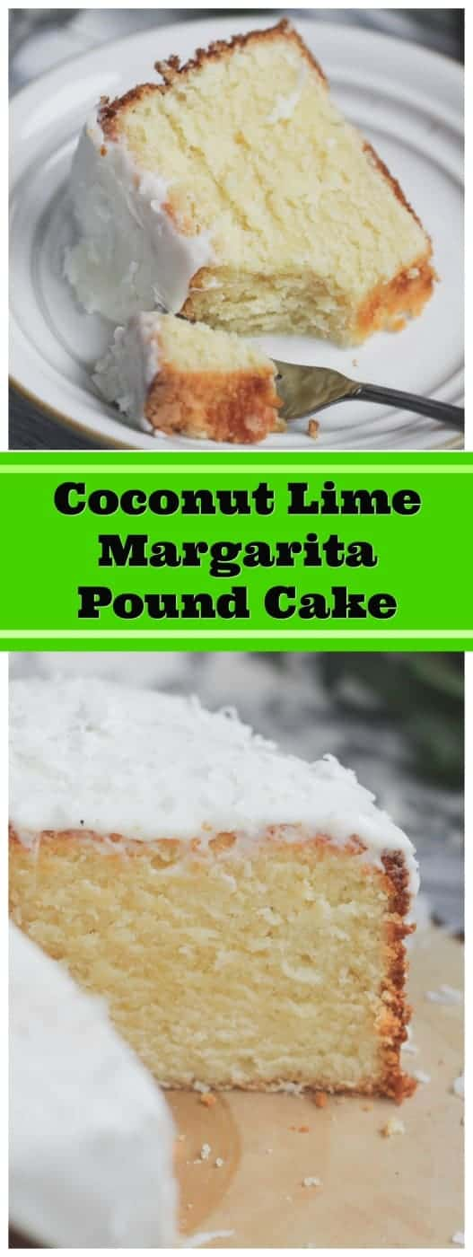 Luscious Coconut Lime Margarita Pound Cake - This heavenly Luscious Coconut Lime Margarita Pound Cake has a velvety, yet smooth texture.  It\'s very light, very moist, lush, very dense, and has wonderful, subtle hints of lime, tequila and coconut!  #coconut #tequila #lime #margarita #pound cake  #cake #baking #summer #sping