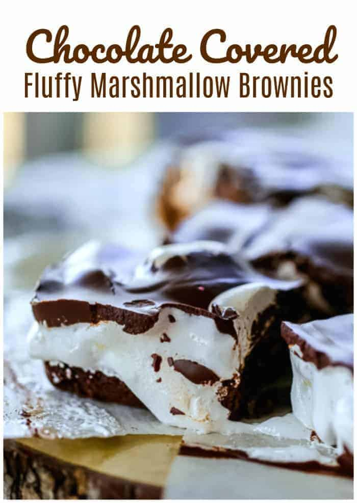 Chocolate Covered Fluffy Marshmallow Brownies - Chocolate Marshmallow Explosion thank you!  WOW!  #chocolate #marshmallow #brownies #addictive