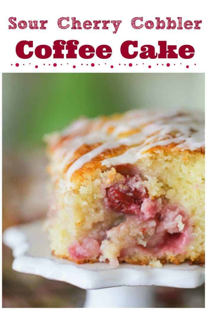 Sour Cherry Cobbler Coffee Cake