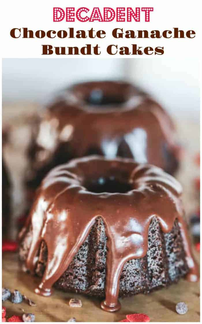 Mini Decadent Chocolate Ganache Bundt Cakes