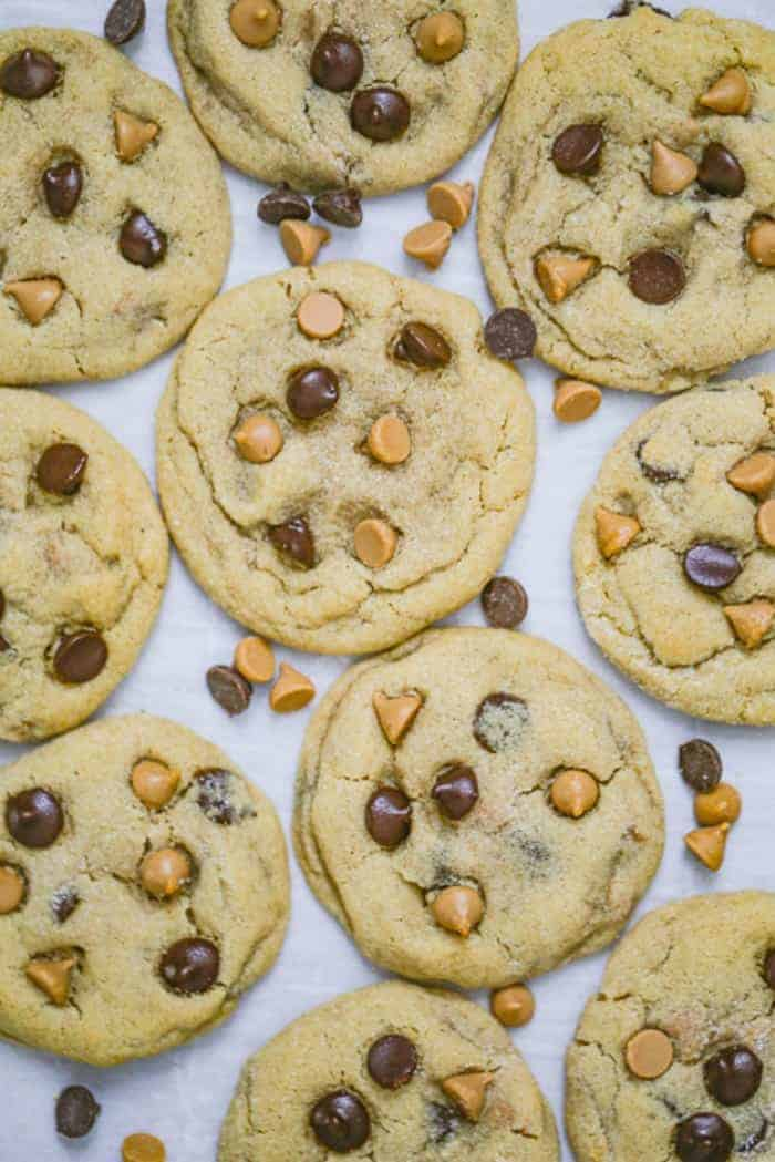 Soft Batch Peanut Butter Chocolate Chip Cookies
