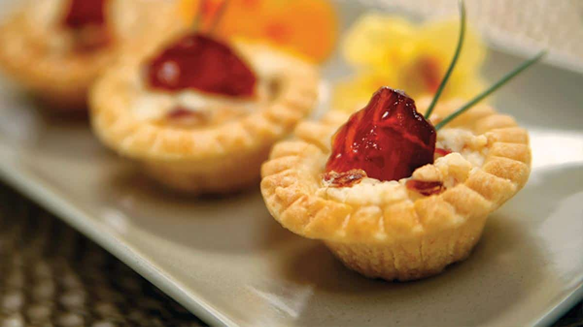 Candied Smoked Salmon Tartlets