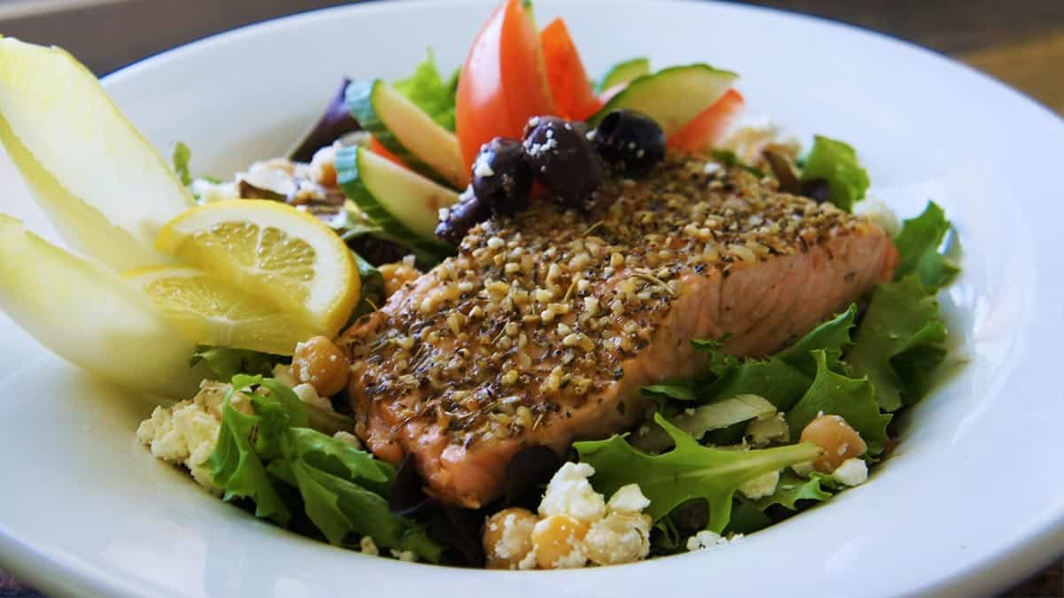 Microwave Greek Salmon