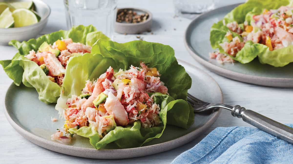 Southern-Style Crab Salad Lettuce Cups