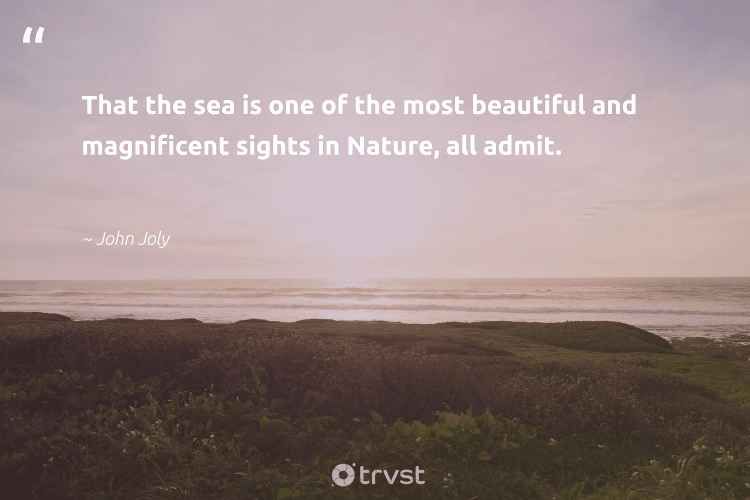 """""""That the sea is one of the most beautiful and magnificent sights in Nature, all admit.""""  - John Joly #trvst #quotes #environment #nature #mothernature #wildernessnation #green #impact #conservation #naturelovers #getoutside #dotherightthing"""