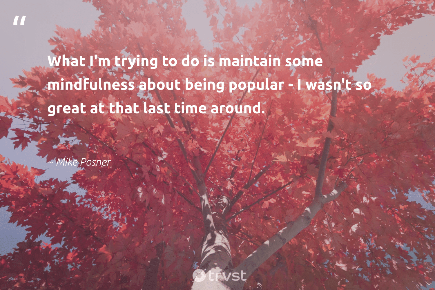 """""""What I'm trying to do is maintain some mindfulness about being popular - I wasn't so great at that last time around.""""  - Mike Posner #trvst #quotes #mindfulness #motivation #positivity #health #takeaction #goals #wellness #mindset #dotherightthing #meditate"""