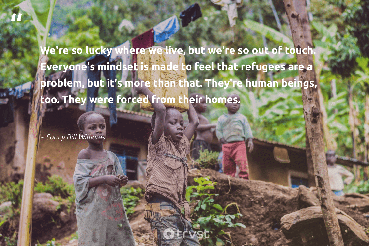 """""""We're so lucky where we live, but we're so out of touch. Everyone's mindset is made to feel that refugees are a problem, but it's more than that. They're human beings, too. They were forced from their homes.""""  - Sonny Bill Williams #trvst #quotes #refugees #mindset #syria #weareallone #equalopportunity #changetheworld #refugee #makeadifference #inclusion #planetearthfirst"""