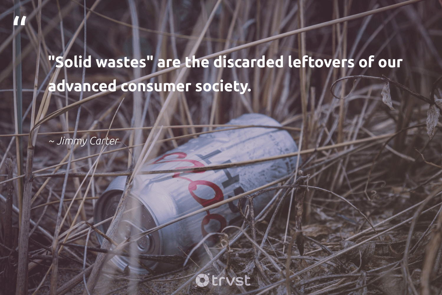 """""""'Solid wastes' are the discarded leftovers of our advanced consumer society.""""  - Jimmy Carter #trvst #quotes #society #planetearthfirst #bethechange #ecoactivism #dosomething #earthdayeveryday #socialchange #sustainability #gogreen #ecofriendly"""