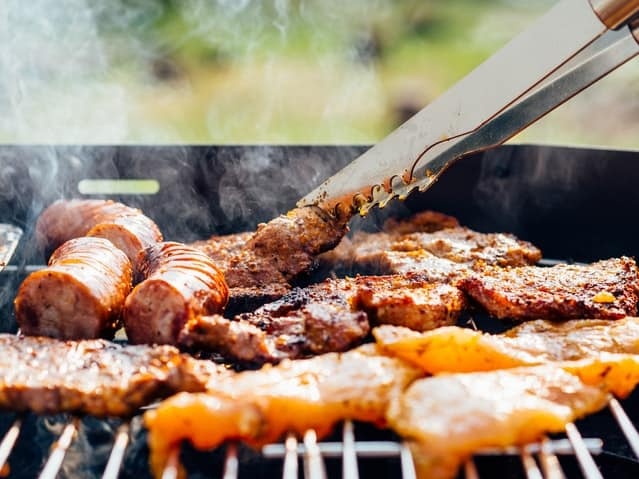 BBQ Meat Sizzling on the barbecue