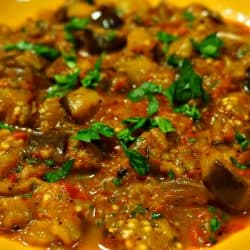 Warm Eggplant Salad with Ottoman Spice Mix