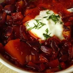 Beef Borscht – Beetroot and Cabbage Soup