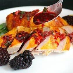 Georgian Chicken in Blackberry (Rachuli) Sauce