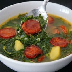 Caldo Verde – Portuguese Kale, Sausage and Potato Soup
