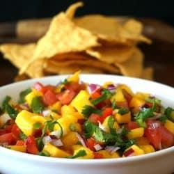 Fresh Mango Serrano Chile Salsa