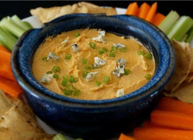 Buffalo Blue Cheese Hummus