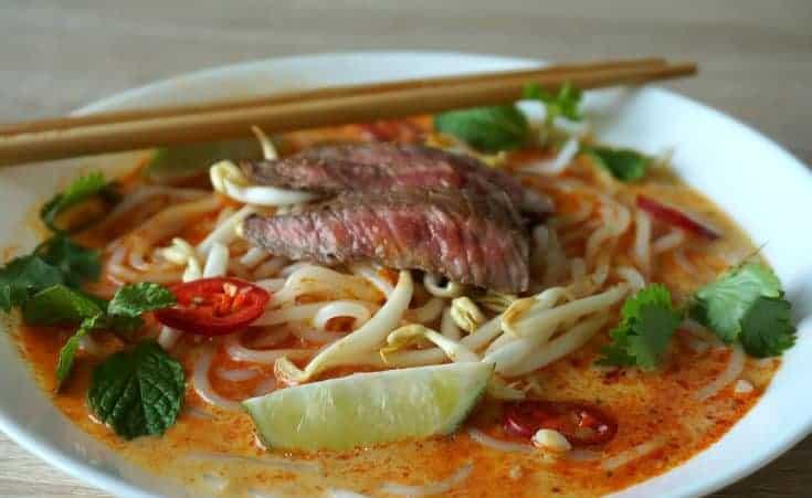 Beef Laksa Noodle Soup Recipe