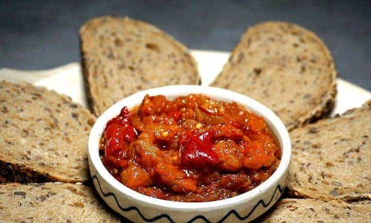 Eggplant and Red Bell Pepper Spread