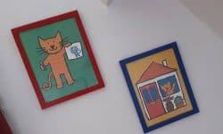 Vakantiehuis Villa 50 Kinderkamer schilderijtjes