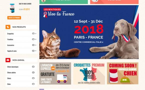 Capture d'écran du site internet Canutri