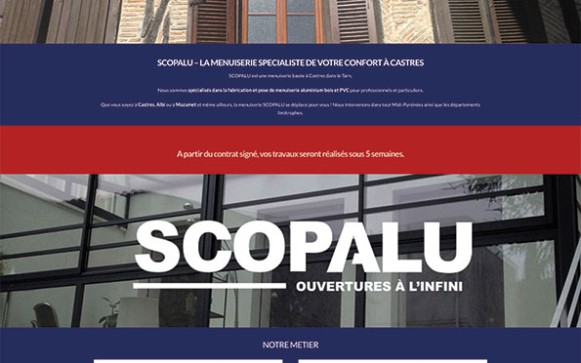 Capture d'écran du site internet Scopalu