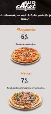 Capture d'écran du site internet mobile Sud Cafet