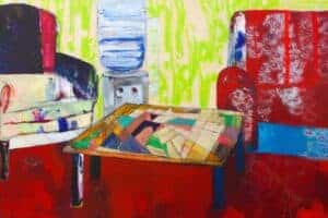 Rana Samara, Intimate Space XVII, 2016, acrylic on canvas, 150 x 365 cm