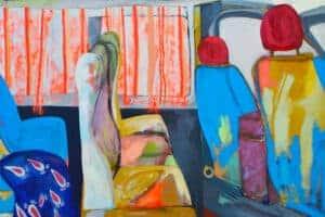Rana Samara, Intimate Space #13, 2016, acrylic on canvas, 210 x 217 cm