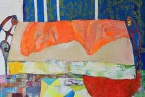 Rana Samara, Intimate Space #18, 2018, acrylic on canvas, 208 x 264 cm