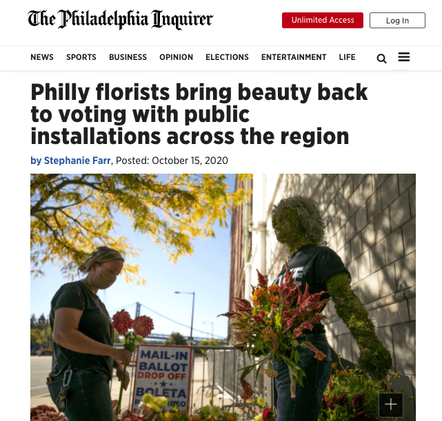 Floral Installation Celebrates Voting