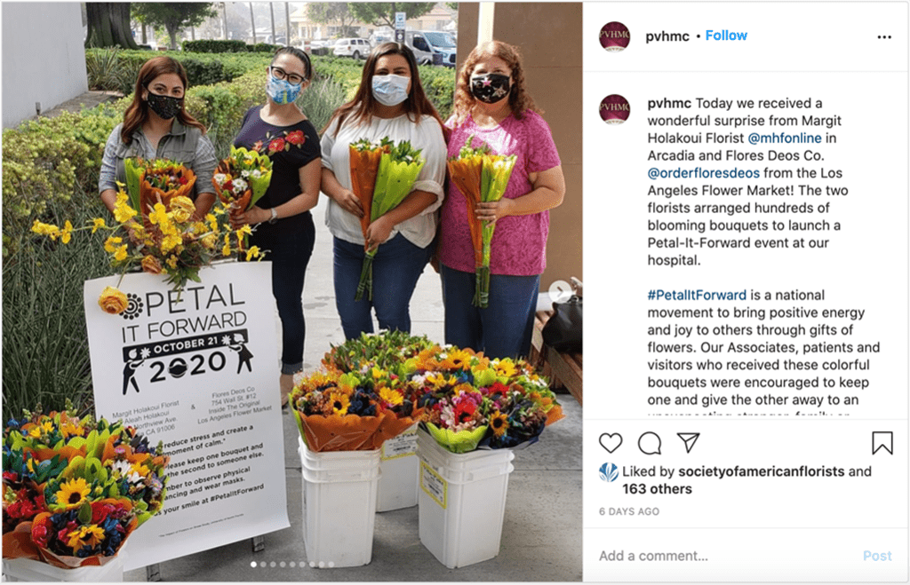 Florists Use 'Petal It Forward' to Boost Engagement