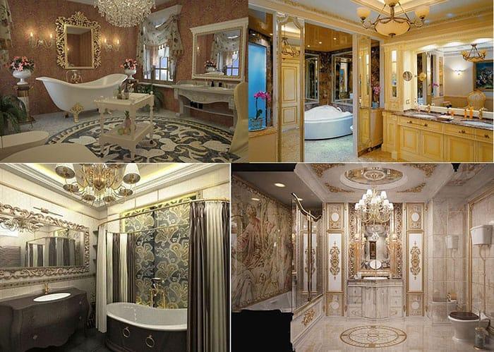 Образцы ванной комнаты