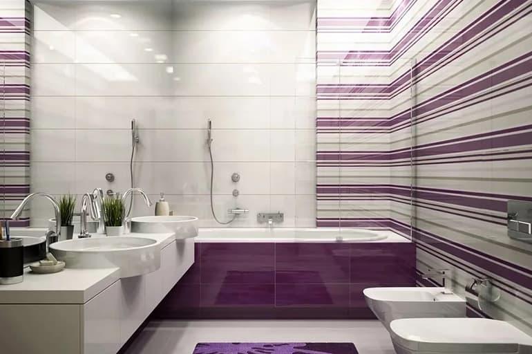 Кафельная плитка фиолетового цвета