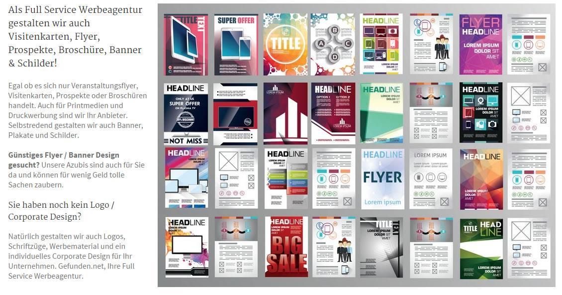Vistenkarten, Druckwerbung, Printdesign, Printmedien: Werbe Banner mit Logo und Faltprospekte - Druck, Design und Erstellung in Gundelsheim als beste  Werbeagentur