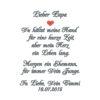 Taschentuch Freudentränen Papa des Bräutigams oder Mama des Bräutigams