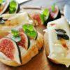Kanapki z serem żółtym i świeżymi figami