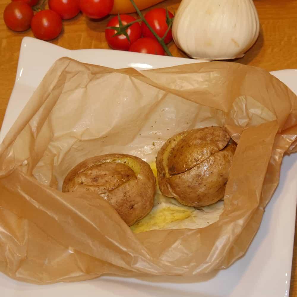 Indische Backkartoffel